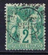 """FR YT 62 """" Sage 2c. Vert """" CAD - 1876-1878 Sage (Type I)"""