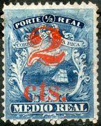Costa Rica,1881,2c/1/2c,Scott#9,MLH,see Scan - Costa Rica