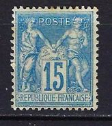 """FR YT 90 """" Sage 15c. Bleu """" Neuf* - 1876-1898 Sage (Type II)"""