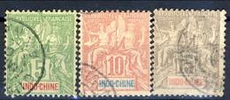 Indocina 1900 Tre Valori Della Serie N. 17-21 Usati Cat. € 6,20 - Used Stamps