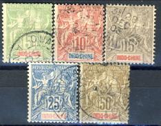 Indocina 1900 Serie N. 17-21 Usati Cat. € 20 - Used Stamps