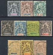 Indocina 1892-96 Dieci Valori Della Serie N. 3-16 Usati Cat. € 180 - Used Stamps