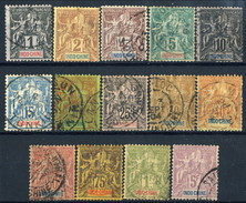 Indocina 1892-96 Serie Completa N. 3-16  Usati Cat. € 260 - Used Stamps
