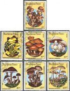 Burkina Faso 1985 Mushroom Plant Plants Mushrooms Fungi Nature Stamps Used SC 743-749 Mi 1054-60 - Burkina Faso (1984-...)
