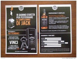 Jack Daniel's Whiskey Alcoolich Drink Hard Carte Size Carte Postale - Advertising