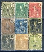 Indocina 1904-06 Nove Valori Della Serie 24-40 Usati Cat. € 22 - Used Stamps