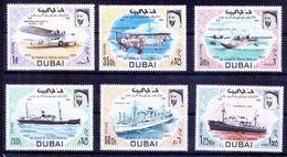 Dubai 1969 MNH 6v, Planes, Ships, Transport, Aviation - Ships