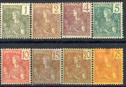 Indocina 1904-06 Otto Valori Della Serie 24-40 MH Cat. € 62,50 - Unused Stamps