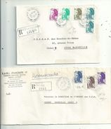 3 LR Des BdR...(13).....affranchies Avec Des Timbres LIBERTE ...........à Voir - 1982-90 Liberté De Gandon