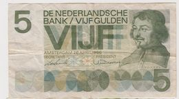PAYS-BAS 5 Gulden 1966 P90 VF- - [2] 1815-… : Royaume Des Pays-Bas