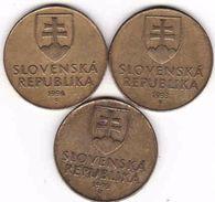 Slovakia 3 X 10 Koruna - Krone - Crown - Couronne 1993, 1994, 1995 - Slowakei