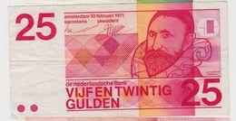 PAYS-BAS 25 Gulden 1971 P92a VF- - [2] 1815-… : Royaume Des Pays-Bas