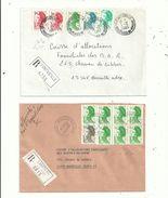 3 LR Des BdR...(13).....affranchies Avec Des Timbres LIBERTE ...........à Voir - 1982-90 Liberty Of Gandon