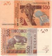 GUINEA  BISSAU   New  500 Francs CFA  Issued 2016  UNC - Guinea-Bissau