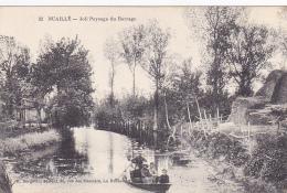 Nuaillé - Joli Paysage Du Barrage ( Militaire En Barque Avec Des Enfants) Circ 1917, Sous Enveloppe - Francia