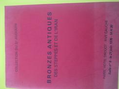 Catalogue/Vente Aux Enchères/Hotel Drouot/ Dr Audouin/BRONZES ANTIQUES/ IRAN/Amlash - Louristan/  1976            CAT224 - Alimentos