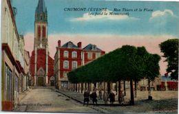 14 CAUMONT L'Eventé - Rue Thiers Et La Place (couleur) - France