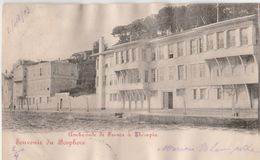 THERAPIA (Istanbul: Turquie). Ambassade De France. Souvenir Du Bosphore. Ecriture Rouge - Türkei