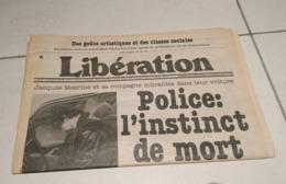 Quotidien Libération Daté Du Samedi 3 Novembre 1979 : La Mort De Jacques Mesrine (Très Rare) - Informations Générales