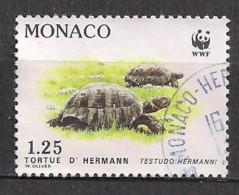 YT N° 1805 - Oblitéré - La Tortue D'Hermann - Mónaco