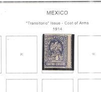 Messico 1914 Stemma Scott.356 Usato  See Scans - Mexique