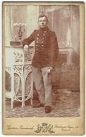 Photo CDV. Militaria. Soldat Identifié. Foto Burvenich. Ostende. - Photos