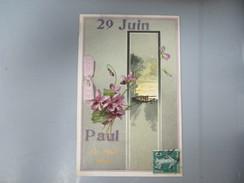 CPA FANTAISIE GAUFREE 29 JUIN PAUL UN DOUX BAISER FLEURS - Nomi