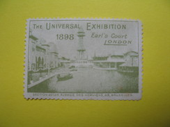 Vignette The Universal Exhibition 1898 London - Cinderellas