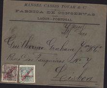 Enveloppe Manoel Cassio Tovar Fabrica De Conservas Lagos Portugal YT 173 Et 204 Surcharges Assistencia - 1910-... République
