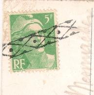 ROULETTE BELGE Sur 5F GANDON. CP De EZE Alpes Maritimes Pour ANVERS. - Postmark Collection (Covers)