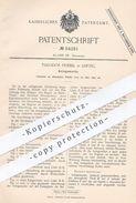 Original Patent - Theodor Friebel , Leipzig , 1890 , Anlegemarke Für Druckpresse | Druck - Presse | Druckerei !!! - Documents Historiques