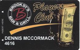 Brooksy's Bar & Grill - Las Vegas, NV - Casino Player Reward / Slot Card - Casino Cards