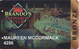 Brando's Sports Bar - Las Vegas, NV - Casino Player Reward / Slot Card - Casino Cards