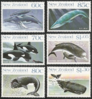 New Zealand,  Scott 2017 # 936-941,  Issued 1988,  Set 6, MNH,  Cat $ 7.55,  Whales - Unclassified