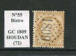 FRANCE- Y&T N°55- GC 1809 (HOUDAN 72) - Marcophilie (Timbres Détachés)