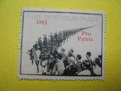 Vignette  Step Into Your Place 1915 - Pro Patria - Erinnophilie