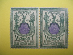 Vignette  Welcome Vermont Invites You To Her Old Home Week 1901 - Erinnophilie