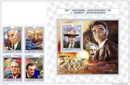 SIERRA LEONE 2017 ** Albert Einstein J. Robert Oppenheimer 4v+S/S - OFFICIAL ISSUE - DH1724 - Albert Einstein
