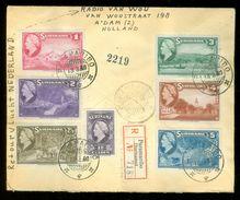 R - AANGETEKENDE RETOURVLUCHT * LP * BRIEFOMSLAG Uit 1946 * GELOPEN VAN SURINAME PARAMARIBO Naar AMSTERDAM (10.649) - Surinam ... - 1975