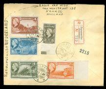 R - AANGETEKENDE RETOURVLUCHT * LP * BRIEFOMSLAG Uit 1946 * GELOPEN VAN SURINAME PARAMARIBO Naar AMSTERDAM (10.649b) - Surinam ... - 1975