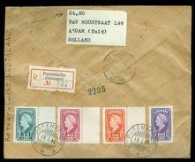 R - AANGETEKENDE RETOURVLUCHT * LP * BRIEFOMSLAG Uit 1946 * GELOPEN VAN SURINAME PARAMARIBO Naar AMSTERDAM (10.649d) - Surinam ... - 1975