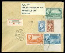 R - AANGETEKENDE RETOURVLUCHT * LP * BRIEFOMSLAG Uit 1946 * GELOPEN VAN SURINAME PARAMARIBO Naar AMSTERDAM (10.649e) - Surinam ... - 1975