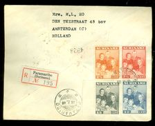 R - AANGETEKENDE RETOURVLUCHT * LP * BRIEFOMSLAG Uit 1946 * GELOPEN VAN SURINAME PARAMARIBO Naar AMSTERDAM (10.649f) - Surinam ... - 1975