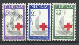 PHILIPPINES 1963 - RED CROSS - CPL. SET - USED OBLITERE GESTEMPELT USADO - Croix-Rouge