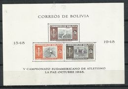 Bolivia_1948_V Campeonato Sudamericano De Atletismo. - Bolivia