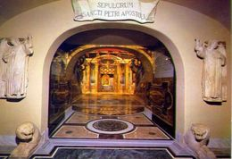 Città Del Vaticano - Sacre Grotte Vaticane - Veduta Generale Della Confessio Sancti Petri - Formato Grande Non Viaggiata - Vatican