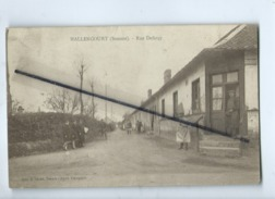 CPA Souple , Abîmée  - Hallencourt  -  (Somme ) - Rue Defarçy - Frankreich