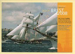 BREST 2008 - La Fête Internationale De La Mer Et Des Marins (10000 Marins, 2000 Voiliers) (voir Scan Recto/verso) - Vela