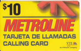 DOMINICANA - Metroline, VTI Prepaid Card $10, Used - Dominicana
