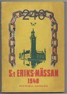 S:t  Eriks-mässan 1948 Officiell Katalog - Books, Magazines, Comics